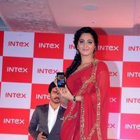 Anushka Shetty - Anushka Launches INTEX Aqua Smartphone Photos