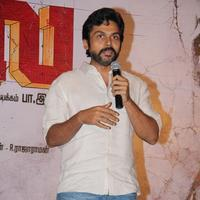 Karthi - Madras Movie Success Meet Stills