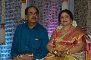 Jayachitra son Amresh Keerthi Wedding Reception Photos