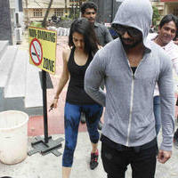 Shahid Kapoor with his wife Mira Rajput spotted outside a gymnasium photos