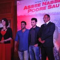 Poster launch of film Assee Nabbe Poore Sau Photos   Picture 1079616