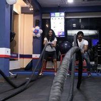 Aadhi and Gayathrie Inaugurated The New Fitness Centre Photos