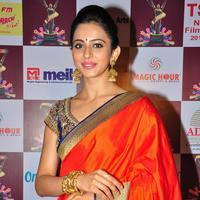 Rakul Preet Singh in Saree at TSR TV9 National Film Awards Photos