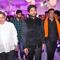 Allu Arjun - Talasani Sreenivas Yadav Yaughter Swathi and Ravi kumar Wedding Reception Photos