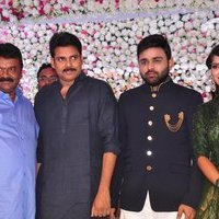 Pawan Kalyan - Talasani Sreenivas Yadav Yaughter Swathi and Ravi kumar Wedding Reception Photos   Picture 1434075