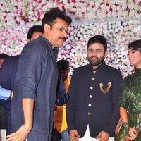 Pawan Kalyan - Talasani Sreenivas Yadav Yaughter Swathi and Ravi kumar Wedding Reception Photos   Picture 1434079