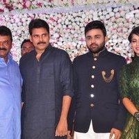Pawan Kalyan - Talasani Sreenivas Yadav Yaughter Swathi and Ravi kumar Wedding Reception Photos   Picture 1434074