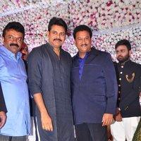 Pawan Kalyan - Talasani Sreenivas Yadav Yaughter Swathi and Ravi kumar Wedding Reception Photos   Picture 1434080