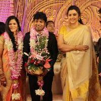 Meena Durairaj - Celebrities At Pandiarajan's Son Wedding Reception Photos