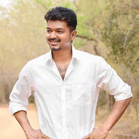 Vijay - Vijay at Puli Movie Shooting Spot Photos