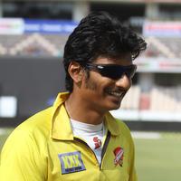 Jeeva (Actors) - CCL 5 Final Telugu Warriors Vs Chennai Rhinos Match Photos