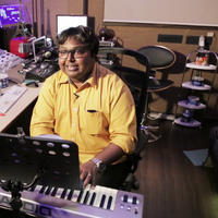 D. Imman - Romeo Juliet Movie Song Recording Stills