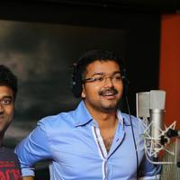 Vijay - Actor Vijay Sings for Puli Movie Song Stills