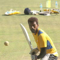 Vikranth Santhosh - CCL6 Chennai Rhinos Team at Kochi Match Practice Photos
