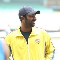 Shanthanu Bhagyaraj - CCL6 Chennai Rhinos Team at Kochi Match Practice Photos