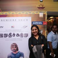 Rohini - Celebs at Irudhi Suttru Movie Premiere Show Stills