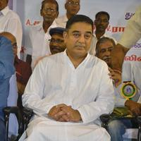 Kamal Hassan - Kamal Haasan at FEFSI Labour Day Celebrations Stills