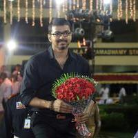 Vijay - Director R. Pandiarajan Son Prithvirajan Weds Akshaya Wedding Reception Stills