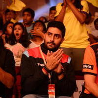 Abhishek Bachchan - Chiranjeevi and Abhishek Bachchan at PRO Kabaddi Match Photos