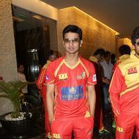 Nikhil Siddhartha - Telugu Warriors Team Press Meet Stills