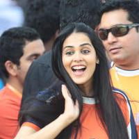 Genelia D Souza - CCL 5 Mumbai Heroes Vs Veer Marathi Match Stills