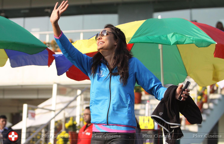 Lisa Haydon - CCL 5 Mumbai Heroes Vs Kerala Strikers Match Photos | Picture 937705
