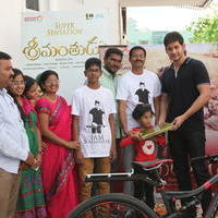 Mahesh Babu Presents Srimanthudu Cycle to Contest Winner Photos