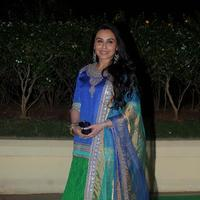 Rani Mukerji - Celebrities at The Wedding Reception of Vishesh Bhatt and Kanika Parab Photos