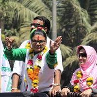 Rakhi Sawant - Candidates begin filing nomination papers for election 2014 Photos