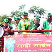 Rakhi Sawant - Rakhi Sawant campaigns in Mumbai North West constituency Photos