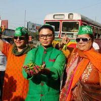 Rakhi Sawant - Rakhi Sawant election campaign Stills