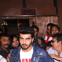 Arjun Kapoor - Star cast of film Gunday visit Gaiety Galaxy theatre Photos