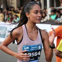 Lisa Haydon - Mumbai Marathon 2014 Stills