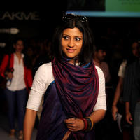 Konkona Sen Sharma - Lakme Fashion Week Summer Resort 2014 Day 6 Photos