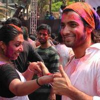 Divyanka Tripathi - Celebrities enjoy Holi 2014 Photos