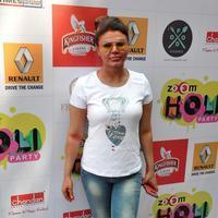 Rakhi Sawant - Celebrities enjoy Holi 2014 Photos