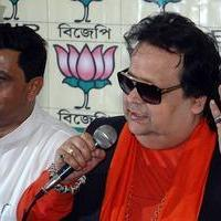 Bappi Lahiri - BJP candidate Bappi Lahiri press conference Photos