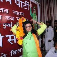 Rakhi Sawant - Rakhi Sawant announced her political party Rashtriya Aam Party Photos